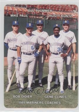 1989 Mother's Cookies Seattle Mariners - Stadium Giveaway [Base] #27 - Bill Plummer, Rusty Kuntz, Mike Paul, Gene Clines, Bob Didier