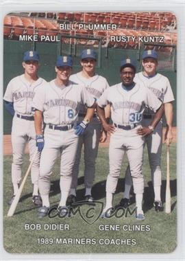 1989 Mother's Cookies Seattle Mariners - Stadium Giveaway [Base] #27 - Bill Plummer, Rusty Kuntz, Mike Paul, Gene Clines, Bob Didier