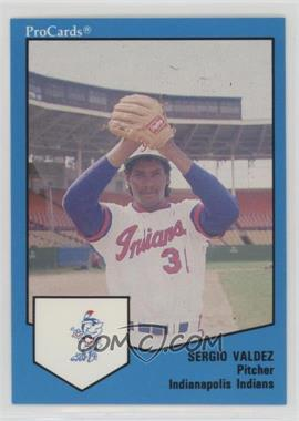 1989 ProCards Minor League - [Base] #1215.1 - Sergio Valdez (No Ad on Back)