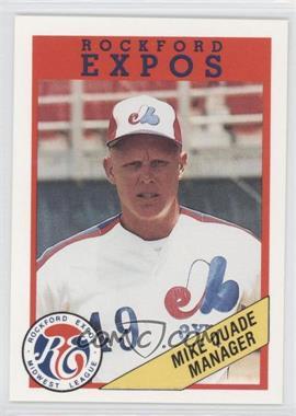 1989 Rockford Litho Center Rockford Expos - [Base] #49 - Mike Quade