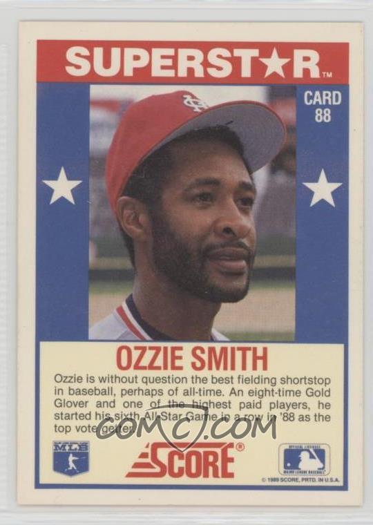 1989 Score 100 Hottest Players Box Set Base 88 Ozzie Smith