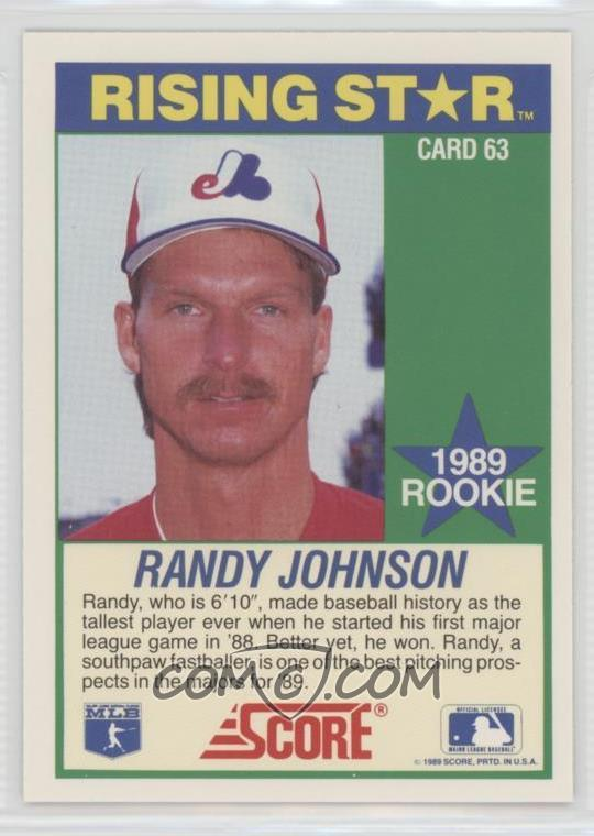 1989 Score 100 Hottest Rookies Box Set Base 63 Randy