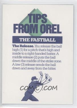1989 Socko Tips From Orel Hershiser #NoN - Orel Hershiser (The Fastball) - Courtesy of COMC.com