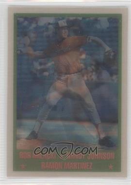 1989 Sportflics - [Base] #224 - Randy Johnson, Ramon Martinez, Bob Milacki