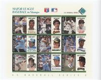 Teal - Barry Bonds, Jim Palmer, Lou Boudreau, Ernie Whitt, Jose Canseco, Ken Gr…