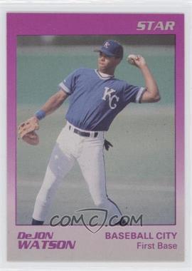 1989 Star Baseball City Royals - [Base] #26 - DeJon Watson