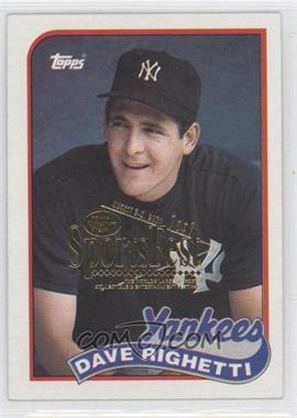 1989 Topps - [Base] - 2001 SCD SportsFest #335 - Dave Righetti /1