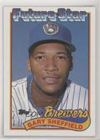 Gary Sheffield (no gap between hat and Future Stars header) [EX to NM]