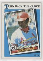 Lou Brock (Red Streak Visible on Right Sleeve)