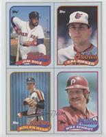 Jim Rice, Cal Ripken Jr., Nolan Ryan, Mike Schmidt