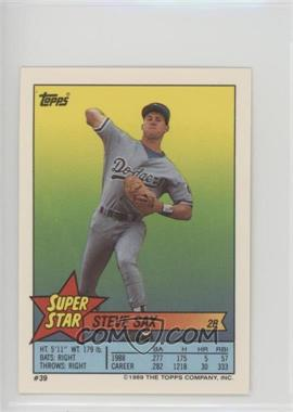 1989 Topps Super Star Sticker Back Cards Base Peeled