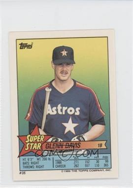 1989 Topps Super Star Sticker Back Cards Base 351