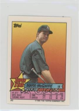 1989 Topps Super Star Sticker Back Cards - [Base] #3.6 - Mark McGwire (Randy Ready 106, Scott Bailes 217)