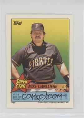 1989 Topps Super Star Sticker Back Cards - [Base] #56.2 - Mike LaValliere (Mark McGwire 172)