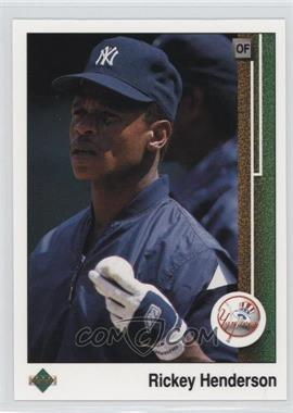 1989 Upper Deck - [Base] #210 - Rickey Henderson