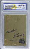 Babe Ruth, Lou Gehrig (70th Anniversary Murderer's Row Stamp Blue) [Encased]