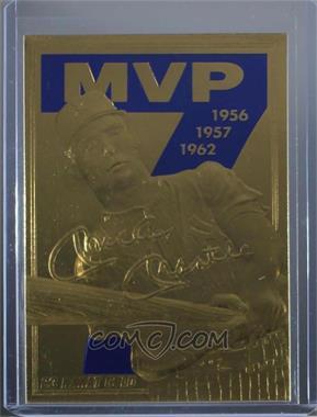 1990-00 Bleachers 23 Karat Gold - [Base] #MMMV.3 - Mickey Mantle (MVP Blue 7)