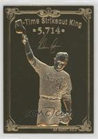 Nolan Ryan All-Time Strikeout King (Small Pitching Sequence Back) #/5,714
