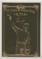 Nolan Ryan All-Time Strikeout King (2 Large Images Back)