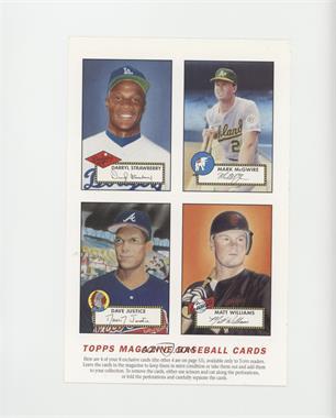 1990 93 Topps Magazine Cards Base Full Sheets Tm33 36
