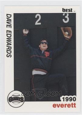 1990 Best Everett Giants - [Base] #28 - Dave Edwards