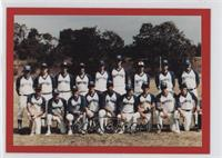 Dave Justice Thomas Moore College baseball team photo
