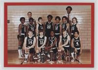 Dave Justice basketball team photo