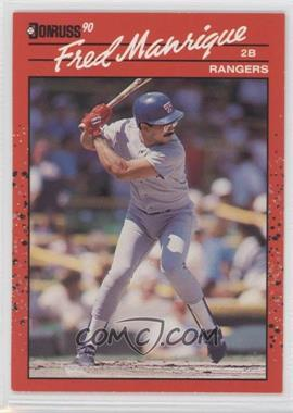 1990 Donruss - [Base] - Aqueous Test #165 - Fred Manrique