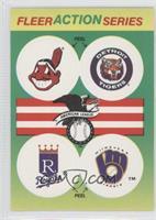 Cleveland Indians, Detroit Tigers, Kansas City Royals, Milwaukee Brewers