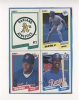 Oakland Athletics Team, Ken Griffey Jr., Kirby Puckett, Ruben Sierra [EXt…