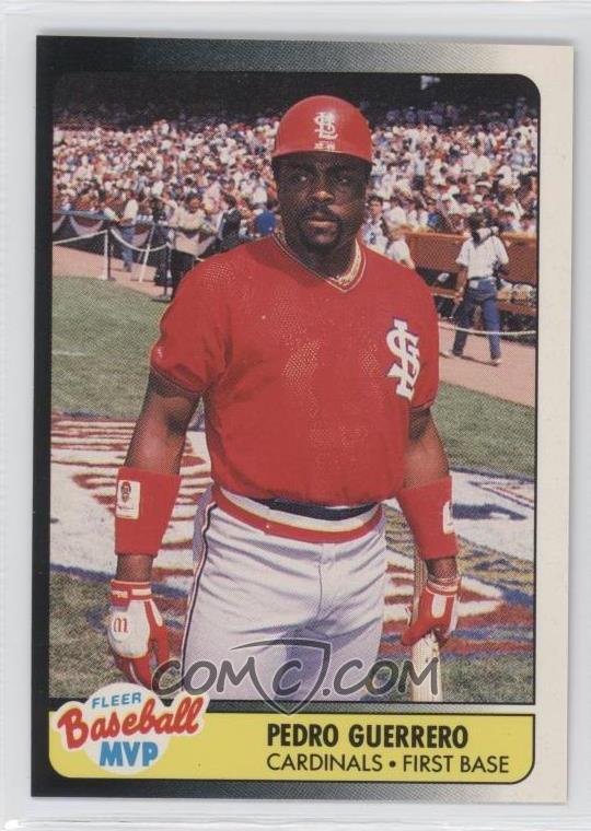 1990 Fleer Baseball Mvp Box Set Base 15 Pedro Guerrero