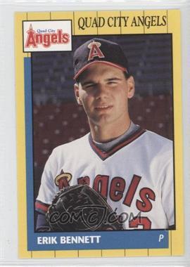 1990 Grand Slam Quad City Angels - [Base] #14 - Erik Bennett