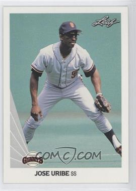1990 Leaf - [Base] #225 - Jose Uribe