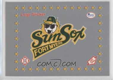 1990 Pacific Senior Professional Baseball Association - Logo Stickers - Silver #FMSS - Fort Myers Sun Sox Team