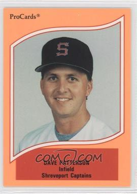 1990 ProCards A & AA Minor League Stars - [Base] #73 - Dave Patterson