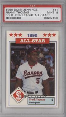 1990 Southern League All-Stars - [Base] #11 - Frank Thomas [PSA9MINT]
