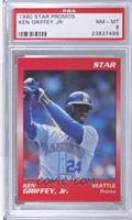 Ken Griffey Jr. (Red Swing Follow Through) [PSA 8]