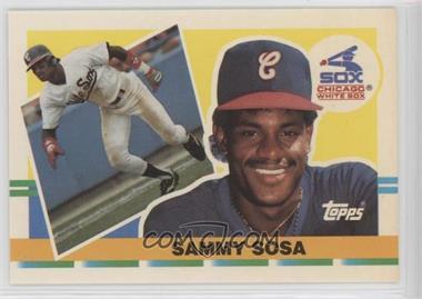 1990 Topps Big Base 286 Sammy Sosa