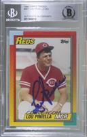 Lou Piniella [BAS Certified Encased by BGS]
