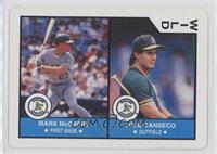 Mark McGwire, Jose Canseco
