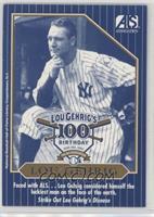 Lou Gehrig 100th Birthday Blue Border (The ALS Association)