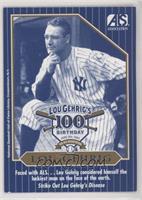 Lou Gehrig 100th Birthday Blue Border (ALS Association - Northern New England C…