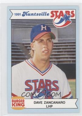 1991 Burger King Huntsville Stars Base Daza Dave Zancanaro