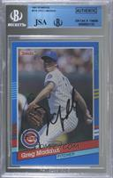 Greg Maddux (Right Border has Yellow Stripes) [JSA Certified Encased&…
