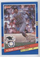 Jose Canseco (Correct: AL in Stat Line on Back)
