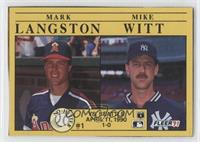 Mark Langston, Mike Witt