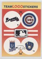 Atlanta Braves Team, Chicago Cubs Team, Kansas City Royals Team, Milwaukee Brew…