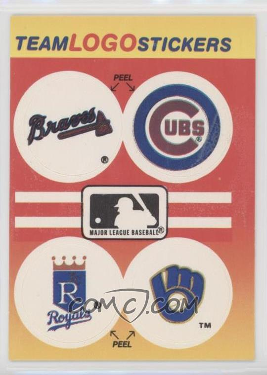Fleer Team Logo Stickers 1991