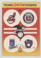Cleveland Indians, Detroit Tigers Team, Kansas City Royals, Milwaukee Brewers