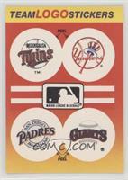 Minnesota Twins, New York Yankees, San Diego Padres, San Francisco Giants